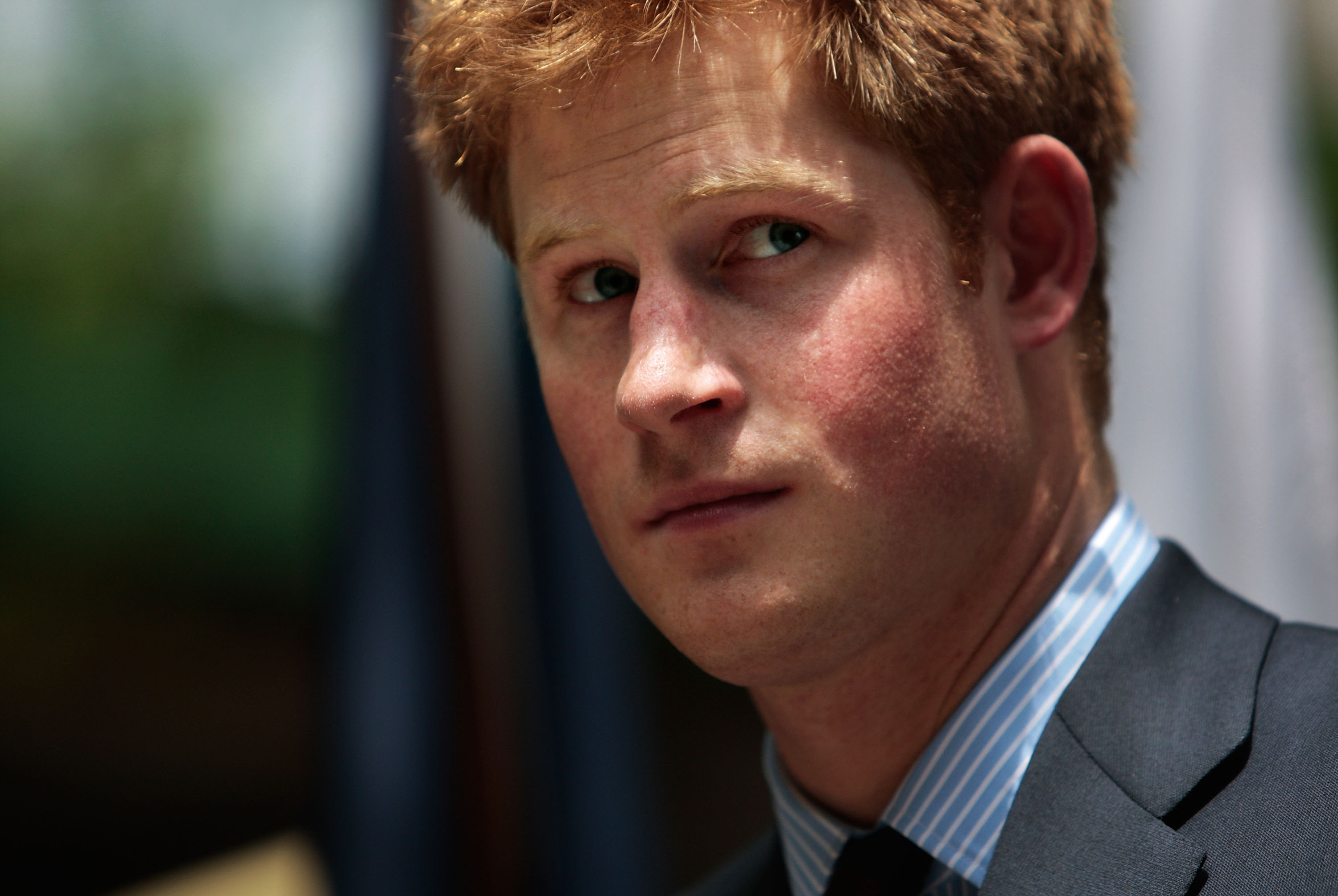 Prince Harry in 2009 before a trip to New York.