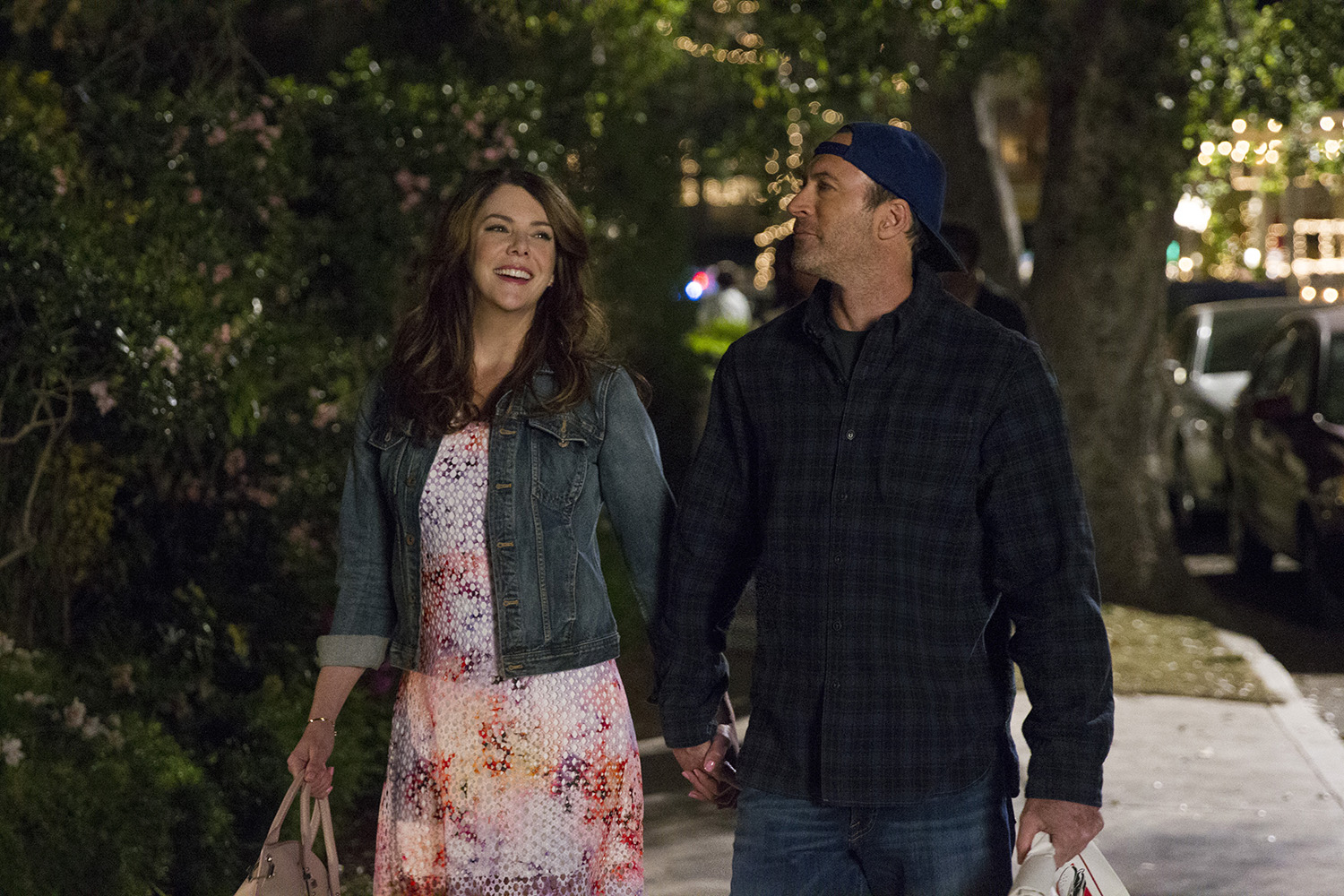 Lauren Graham and Scott Patterson in Gilmore Girls: A Year in the Life.