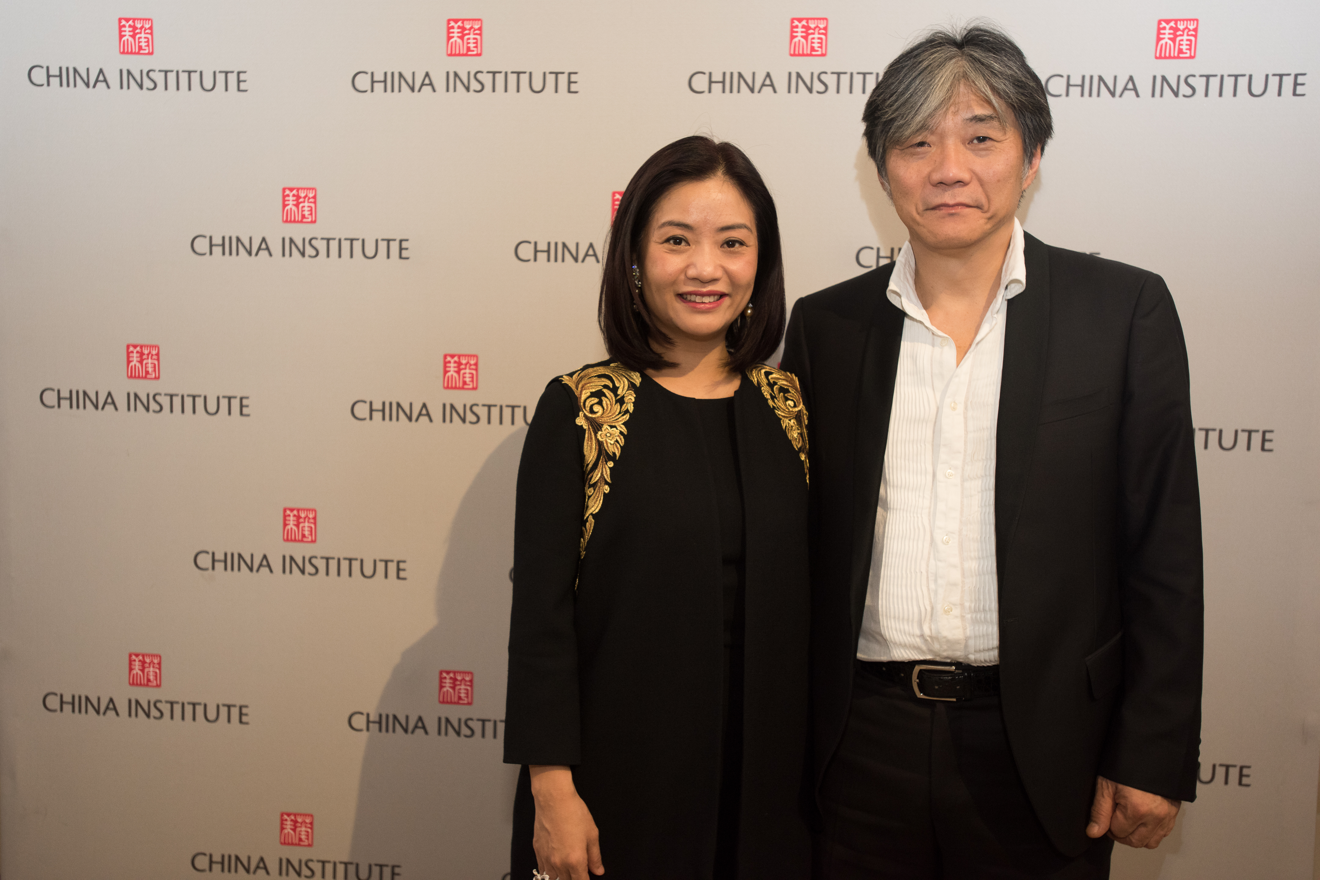 Guo Pei and her husband Jack at the Blue Cloud Gala.