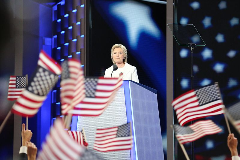 Hillary Clinton at the 2016 Democratic Convention.