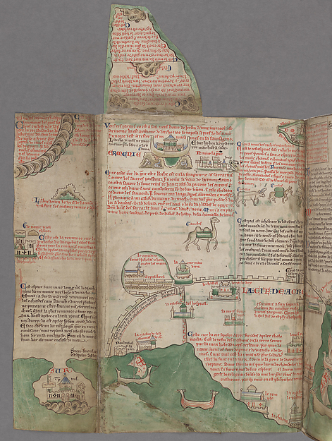 Map of the Holy Land, from Chronica majora, vol. I, Written and illustrated by Matthew Paris, ca. 1240–53.