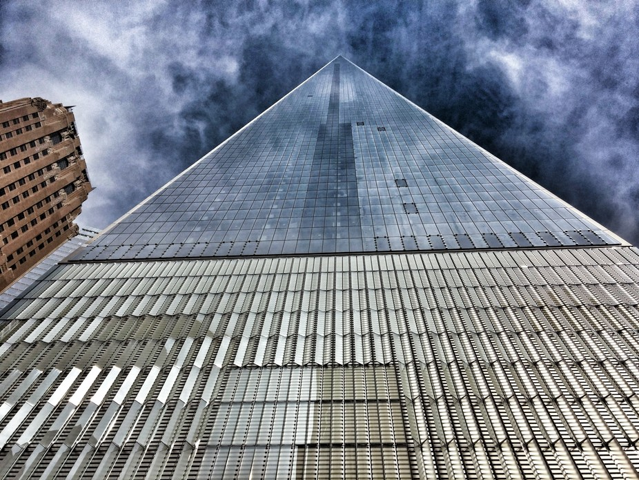 The new One World Trade Center building, made with high-performance concrete.