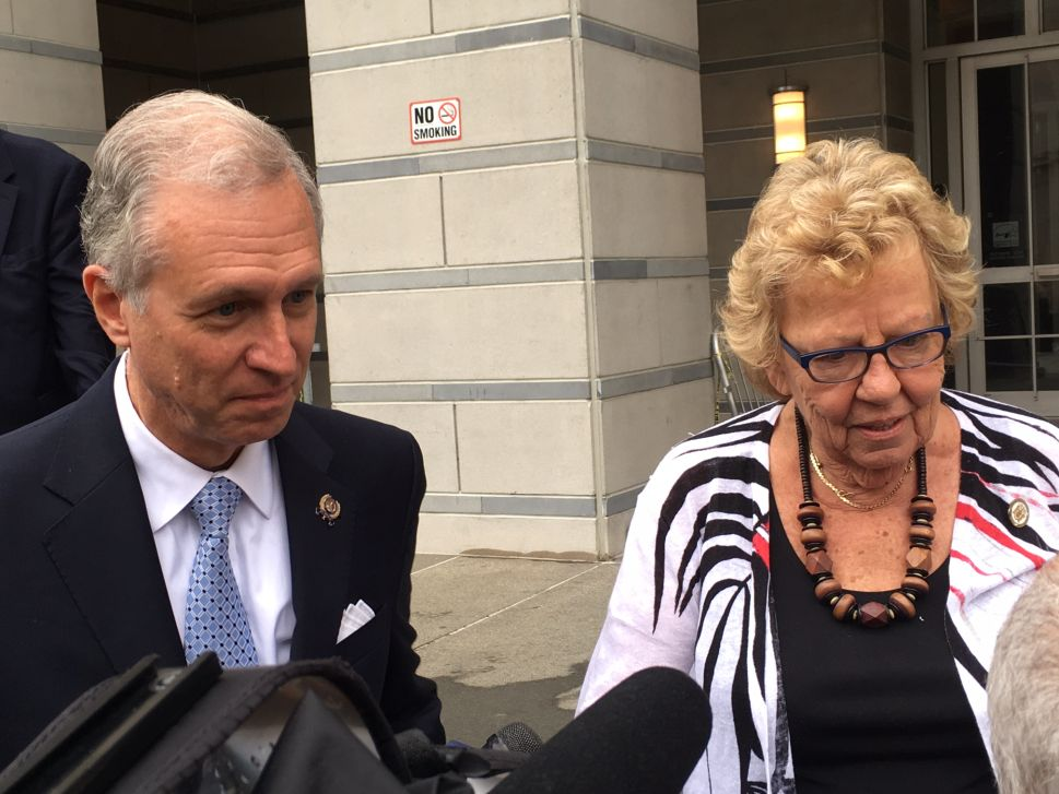 Wisniewski and Weinberg spoke to reporters following the first day of the Bridgegate trial.
