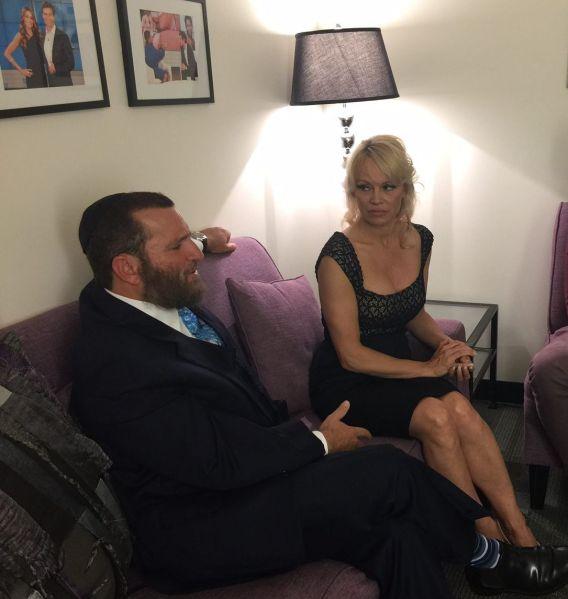 Rabbi Shmuley and Pamela Anderson