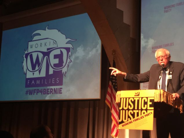 Vermont Sen. Bernie Sanders tonight.