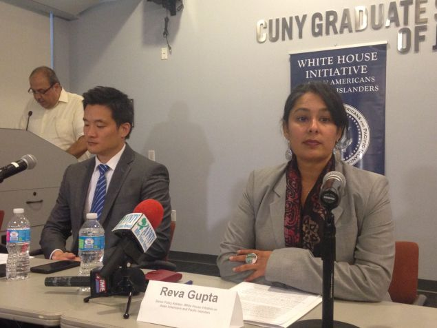Reva Gupta, senior policy advisor for the White House Initiative on Asian Americans and Pacific Islanders, discusses DACA at a media roundtable.