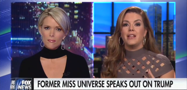 Fox News' Megyn Kelly interviews former Miss Universe Alicia Machado