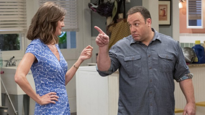 Erinn Hayes and Kevin James in Kevin Can Wait.