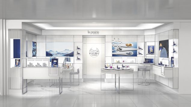 The La Prairie counter at Bergdorf Goodman