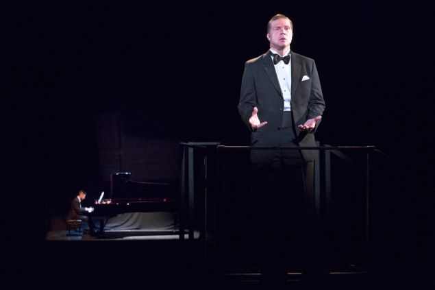 Conrad Tao and Rod Gilfry in 'the loser' at BAM.