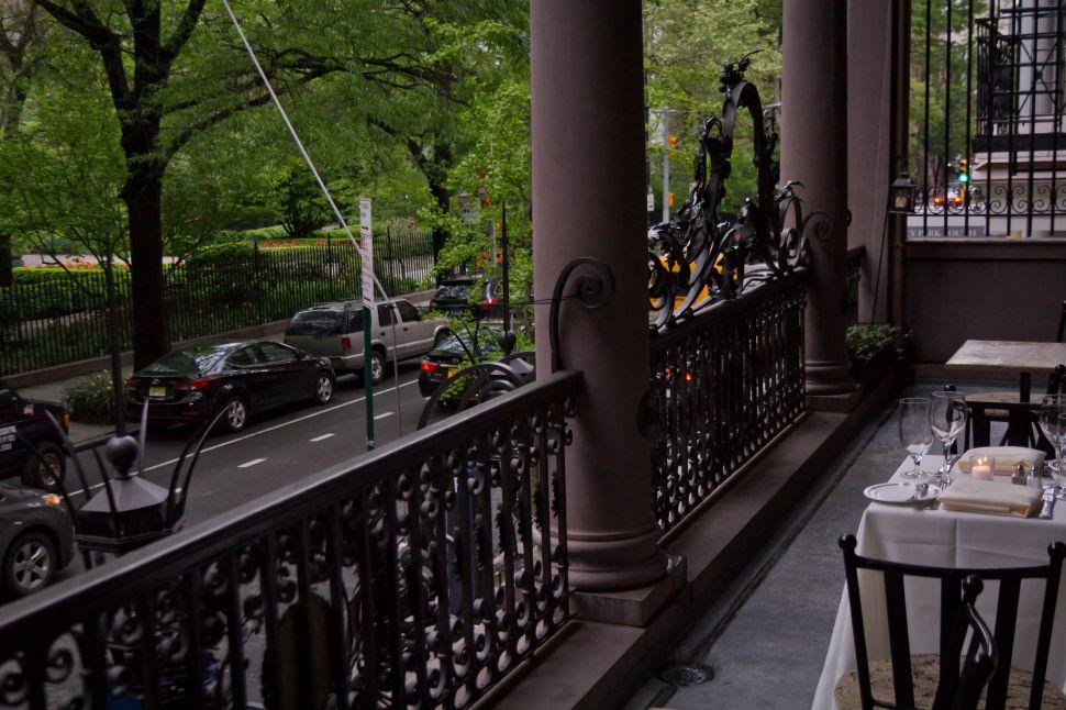 The balcony at Edwin's