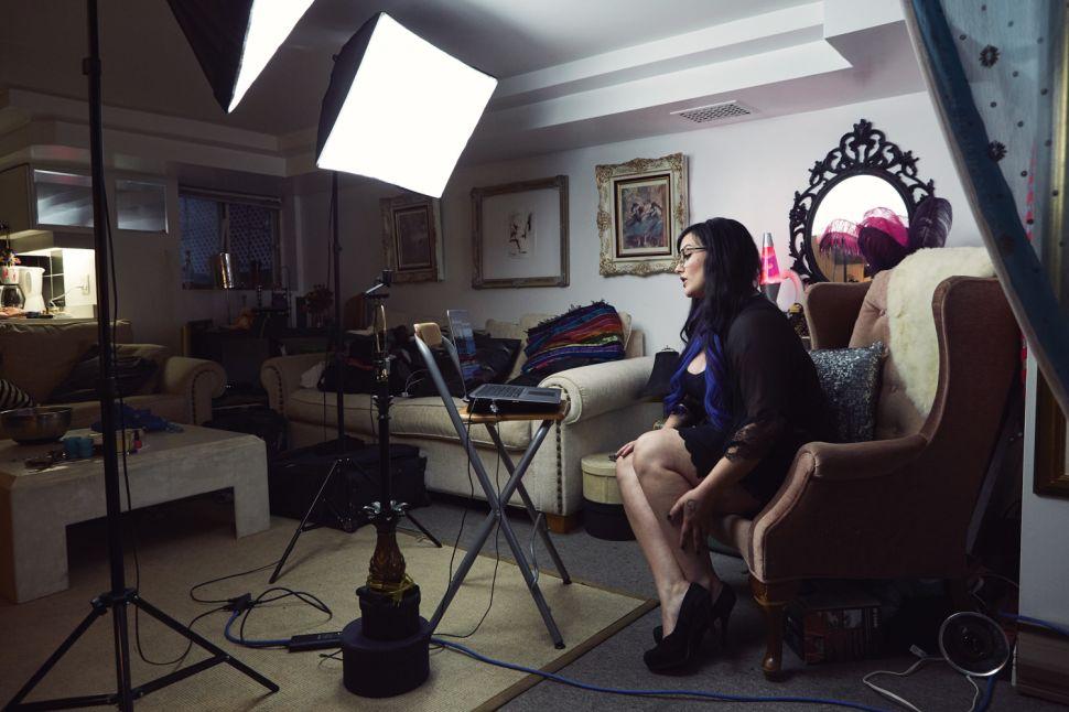 Nikki Night on set.