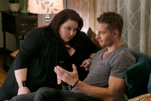Chrissy Metz as Kate and Justin Hartley as Kevin.