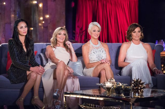 l-r) Julianne Wainstein, Sonja Morgan, Dorinda Medley, Luann de Lesseps -- (Photo by: Charles Sykes/Bravo)