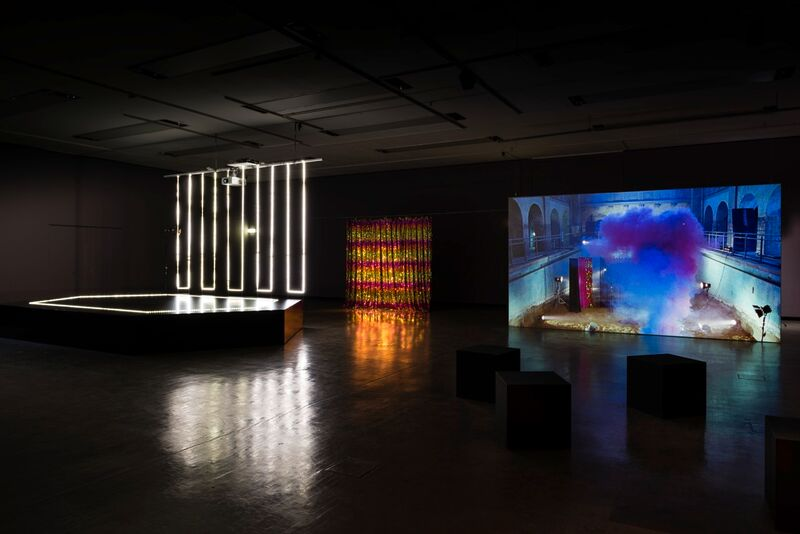 Opaque, a film from Pauline Boudry and Renate Lorenz, in their installation at the 2016 Gwangju Biennale.