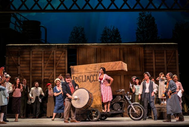 Francesco Anile and Jessica Rose Cambio are on the wrong track in NYCO's 'Pagliacci'