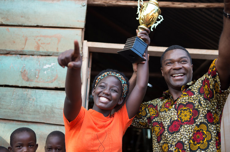 Madina Nalwanga and David Oyelowo Queen of Katwe.