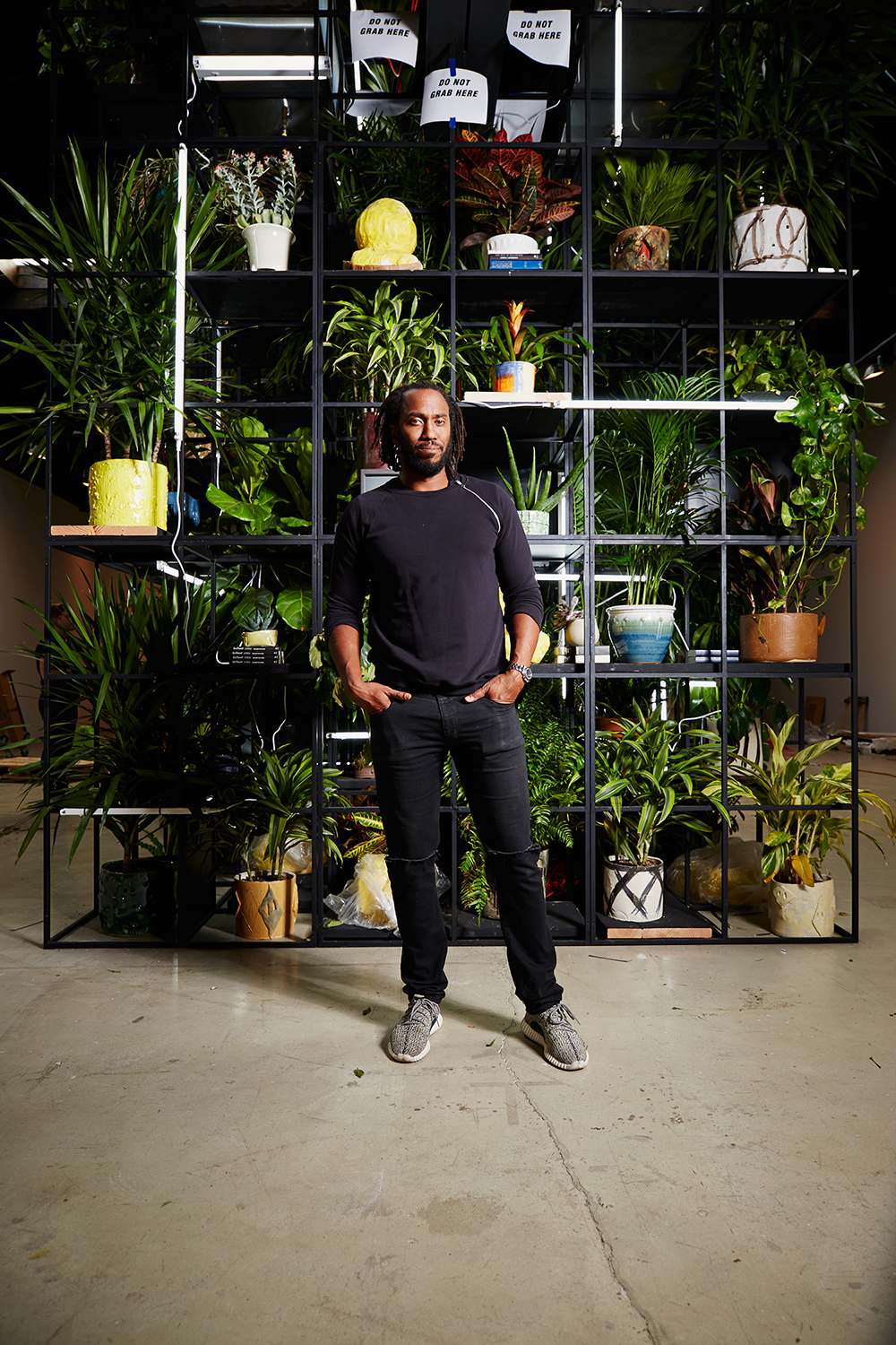 Rashid Johnson photographed at Hauser & Wirth Gallery, 511 West 18th St., New York, New York, August 25th, 2016.
