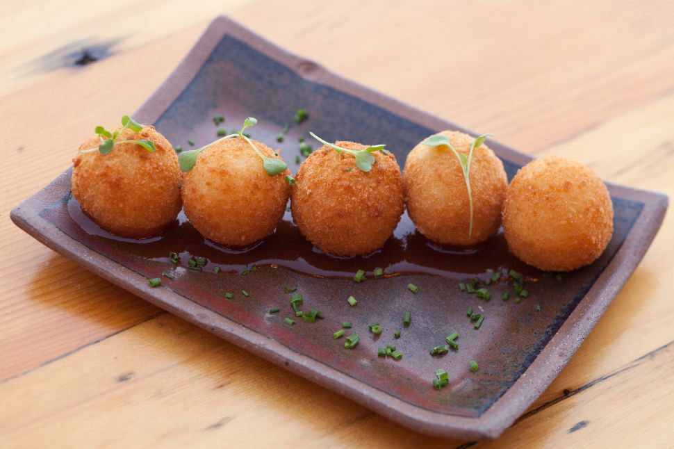 Goat cheese croquettes are a Sugarcane crowd-pleaser.