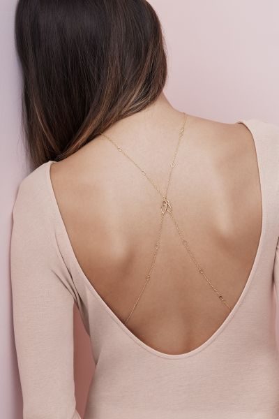 The Paperclip Chain worn as a body chain