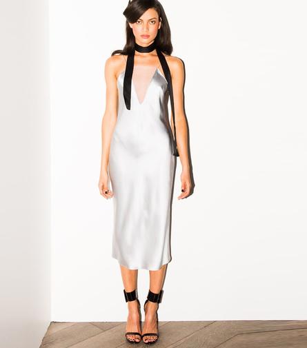 Fleur du Mal Sheer Plunge Bias Slip Dress, $478, Fleurdumal.com.