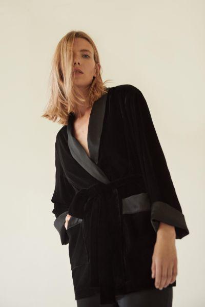 Sleeper Siberia Black Velvet Robe, $420, The-sleeper.com.