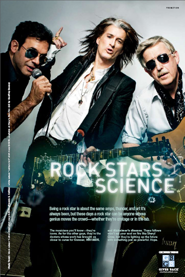 GQ's Rockstars of Science spread where Tanzi was introduced to Joe Perry