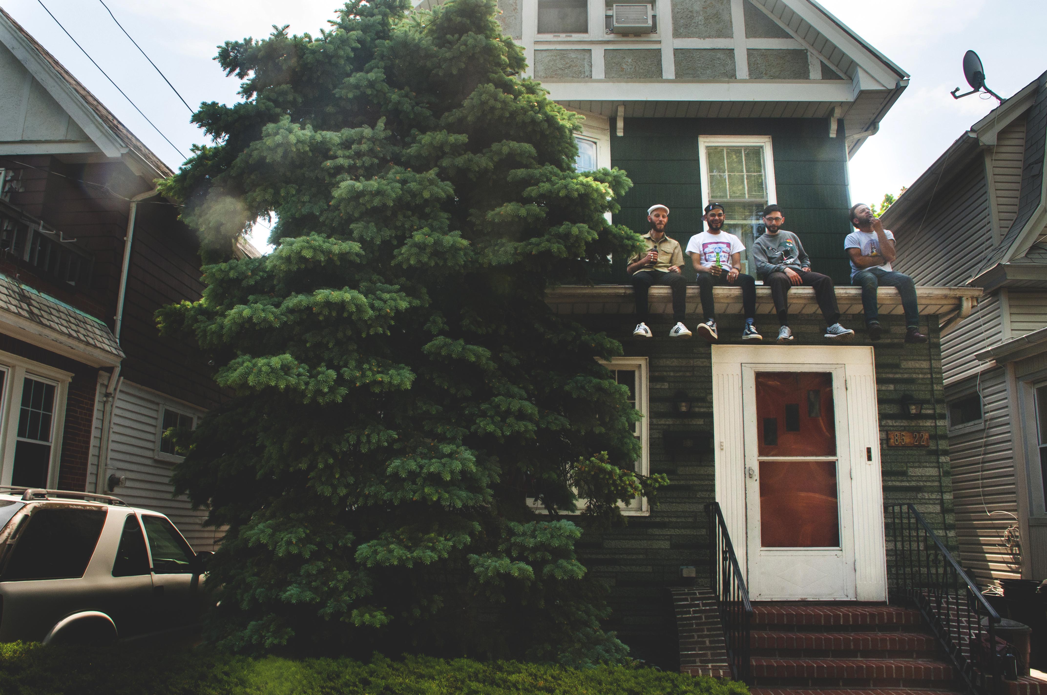 The Frightnrs at home. (L-R) Dan Klein,Chuck Patel,Richard Terrana,Preet Patel