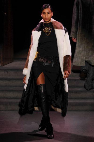 A literal interpretation of rich lady dressing at Tom Ford