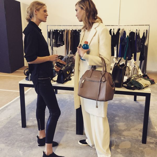 Toni Garrn and Karlie Kloss at last year's Supermodel Flea Market