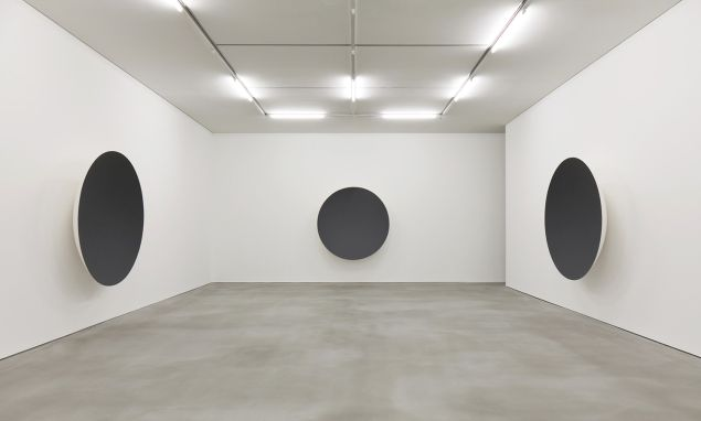 """Installation view of """"Gathering Clouds."""""""