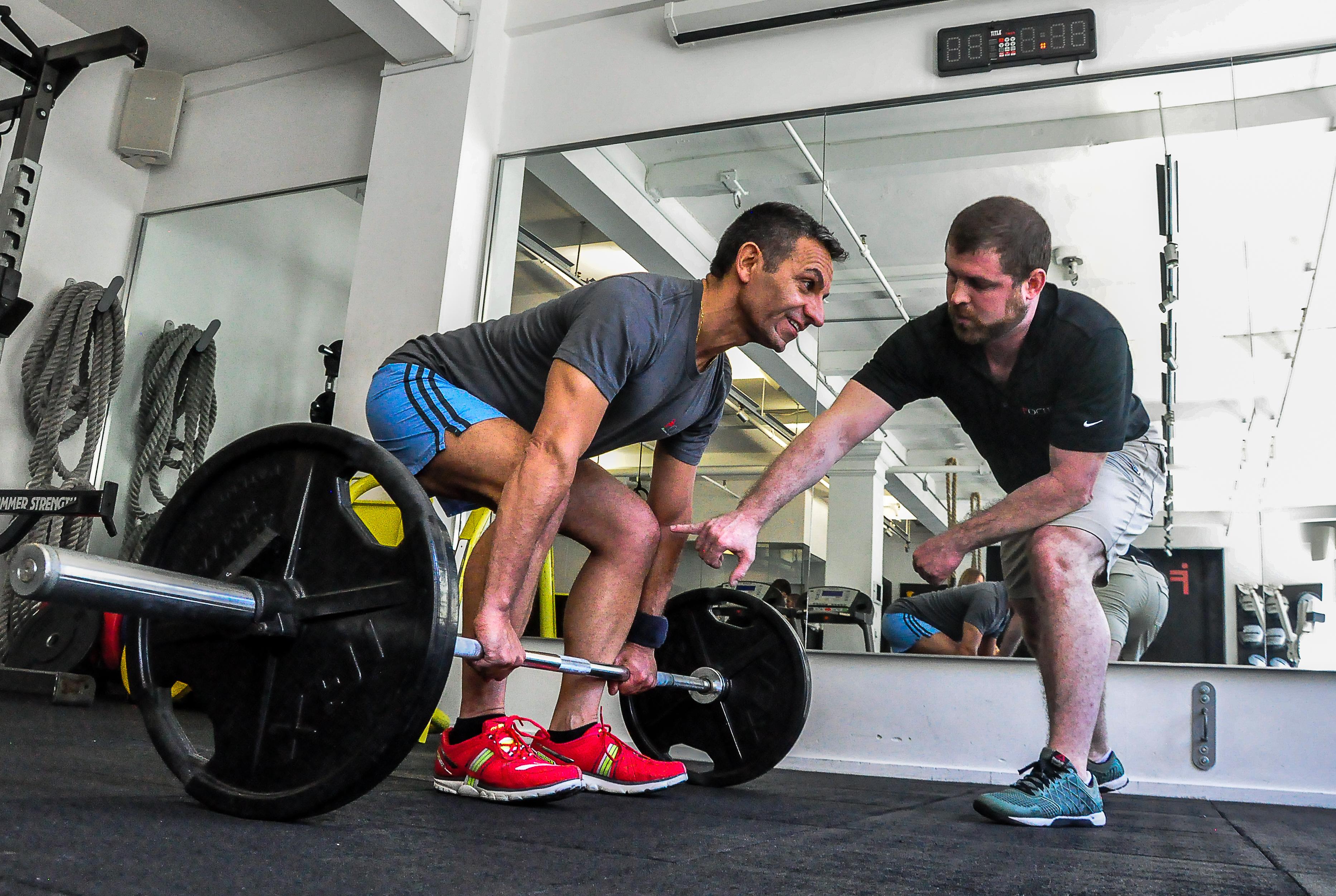 FOCUS weight lifting class.