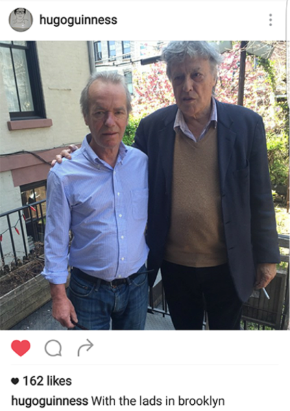 Martin Amis and Tom Stoppard guest-star on @hugoguinness's Instagram