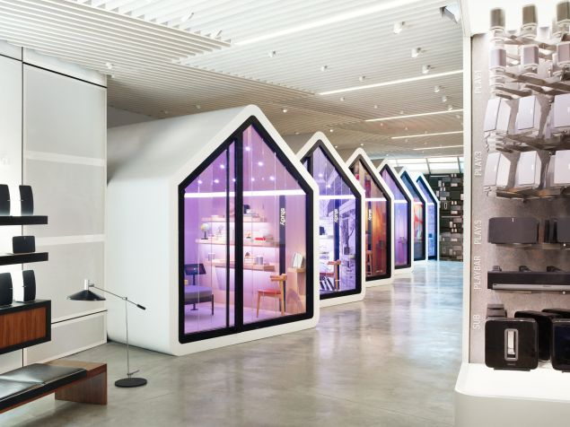 The store's six sound-proofed listening rooms allow for limitless sound