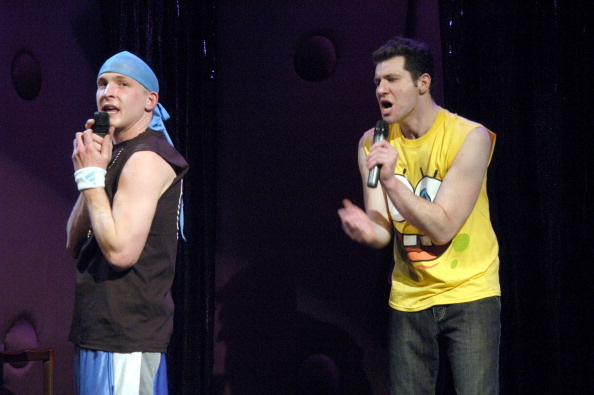 """Robin Lord Taylor and Billy Eichner during Creation Nation Presents """"Scamalot."""""""