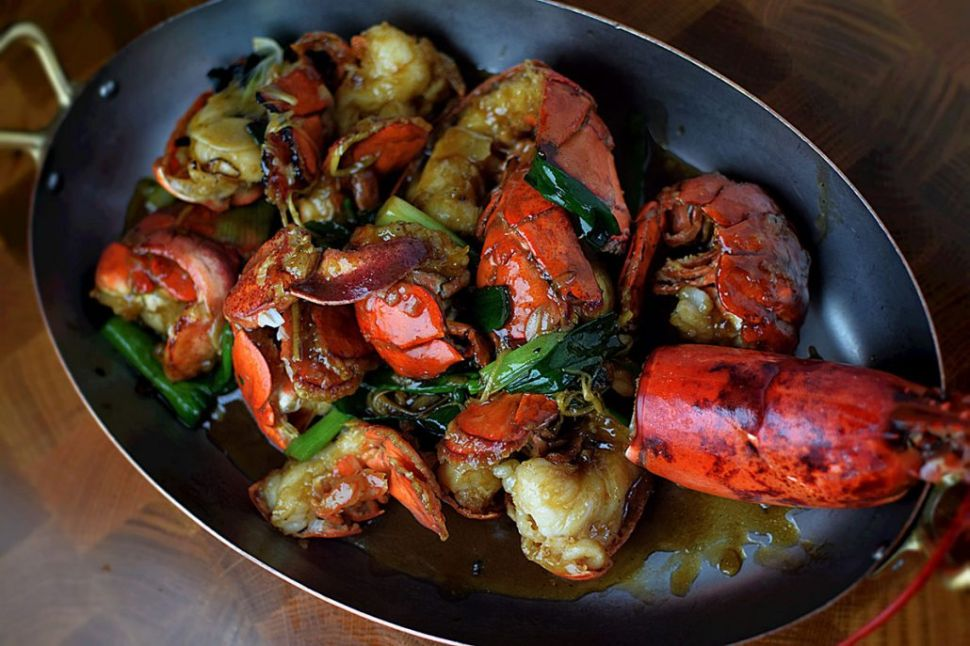 Go big with Cantonese lobster.