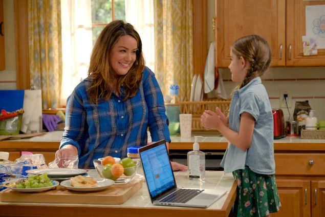 Katie Mixon and Julia Butters on American Housewife.