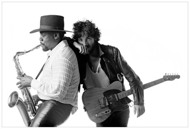 E Street Band sax player Clarence Clemons and Bruce Springsteen.