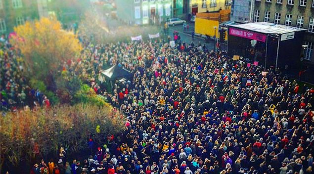 Yesterday, thousands of women in Iceland left work 30 percent early to protest the 30 percent wage gap.