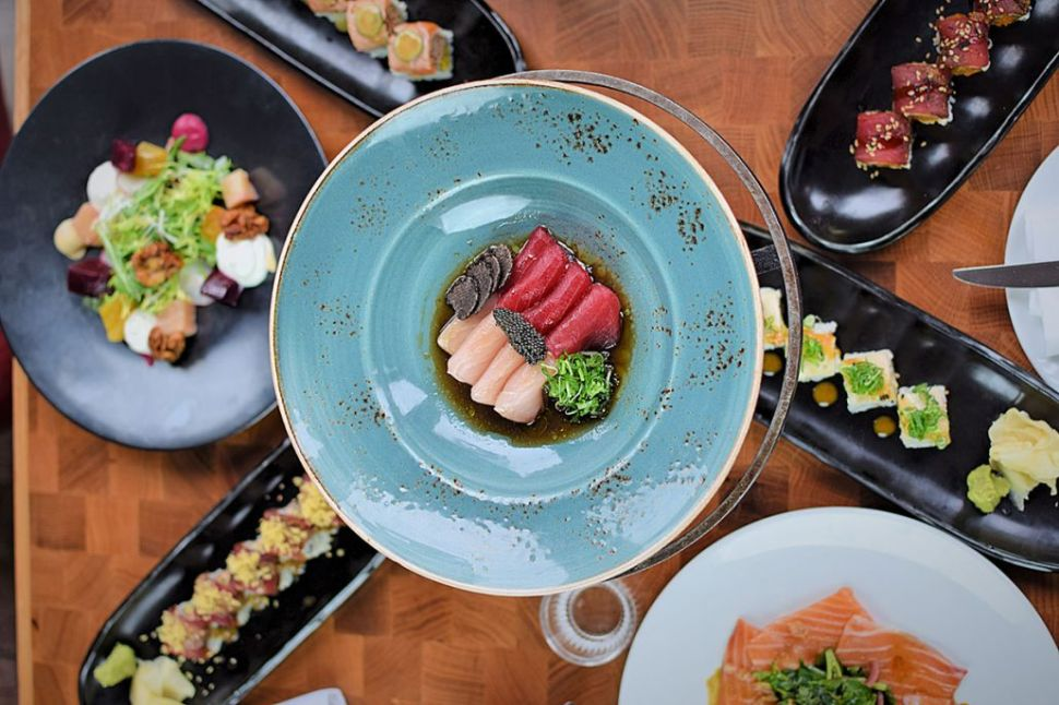 Truffle sashimi is Catch chef Andrew Carroll's favorite dish.