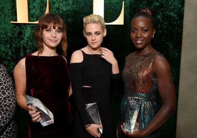 Felicity Jones, Kristen Stewart, and Lupita Nyong'o.
