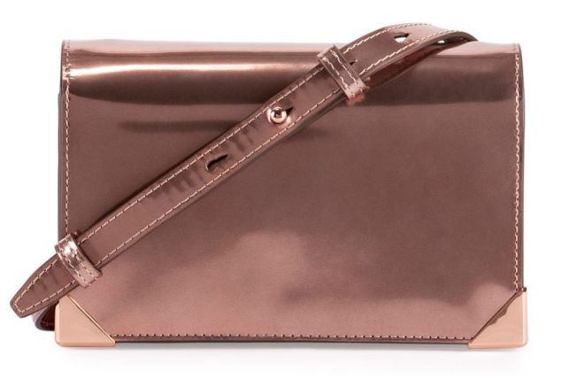Alexander Wang, Prisma Specchio Leather Biker Purse, Rose Gold, $475