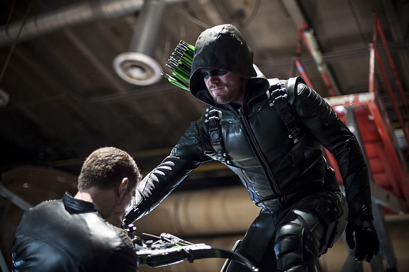 Stephen Amell as Green Arrow.