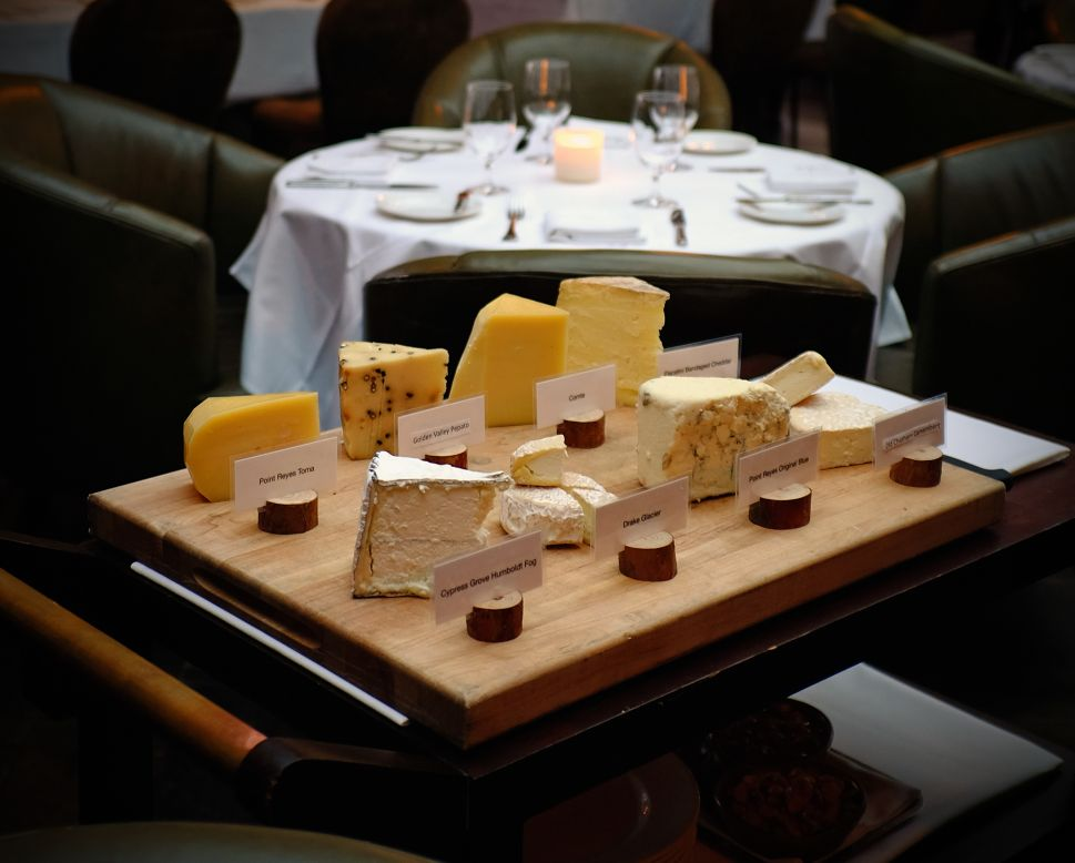 Baltaire's cheese cart offers both domestic and international selections