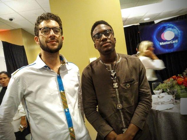BenBen cofounders, Daniel Bloch and Emmanuel Noah, at the UN Solutions Summit 2016.