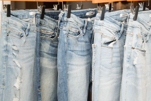 Light wash denim is included in the range.