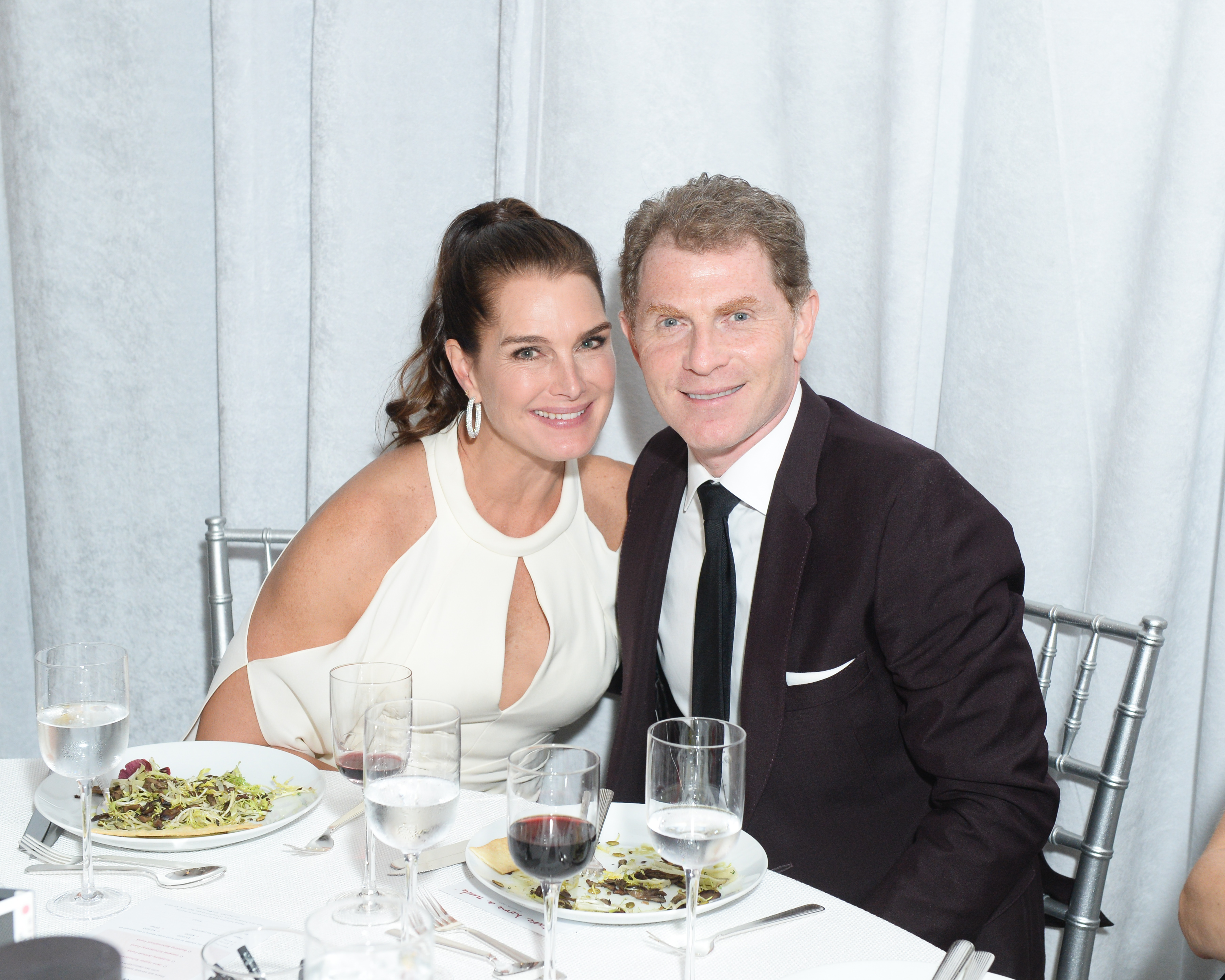 Brooke Shields and Bobby Flay.
