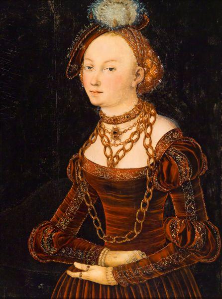 Lucas Cranach the Elder's Portrait of a Lady.