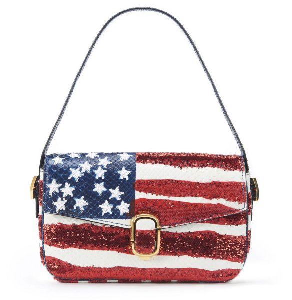 Marc Jacobs American Flag Sequin Python Shoulder Bag; $3,300; SaksFifthAvenue.com.