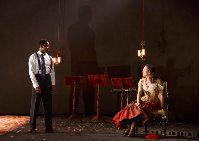 Harold Perrineau and Diane Lane in Roundabout Theatre Company's The Cherry Orchard.